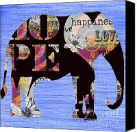Artyzen Studios Canvas Prints - Whimsical Bohemian Elephant Canvas Print by AdSpice Studios