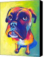 Boxer Dog Canvas Prints - Whimsical Boxer dog Canvas Print by Svetlana Novikova