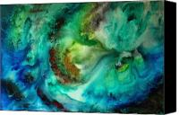 Upbeat Painting Canvas Prints - Whirlpool by MADART Canvas Print by Megan Duncanson