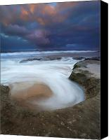 Storm Photo Canvas Prints - Whirlpool Dawn Canvas Print by Mike  Dawson