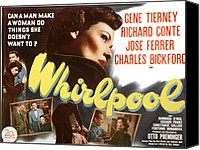 1949 Movies Canvas Prints - Whirlpool, Gene Tierney, 1949 Canvas Print by Everett