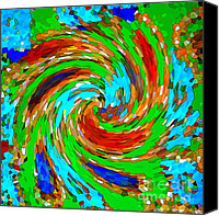 Bold Colors Canvas Prints - Whirlwind - Abstract Art Canvas Print by Carol Groenen