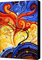 Upbeat Painting Canvas Prints - Whirlwind by MADART Canvas Print by Megan Duncanson