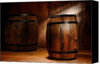 Ancient Photo Canvas Prints - Whisky Barrel Canvas Print by Olivier Le Queinec