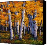 Birch Canvas Prints - Whispers Canvas Print by Johnathan Harris