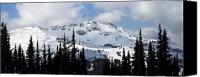 Snowboard Canvas Prints - Whistler mountain peak view from Blackcomb Canvas Print by Pierre Leclerc