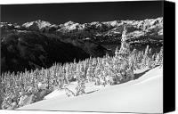 Ghosts Canvas Prints - Whistler mountain winter scenery Canvas Print by Pierre Leclerc