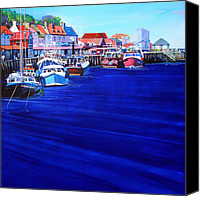Coastal Canvas Prints - Whitby Fishing Boats Canvas Print by Neil McBride