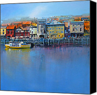 Harbor Art Painting Canvas Prints - Whitby St Annes Staith Canvas Print by Neil McBride