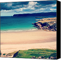 Beach Canvas Prints - White Beach In Scotland Canvas Print by Luisa Azzolini
