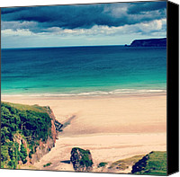 Beach Canvas Prints - White Beach In Scotland2 Canvas Print by Luisa Azzolini