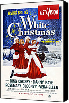1950s Poster Art Canvas Prints - White Christmas, Bing Crosby, Rosemary Canvas Print by Everett