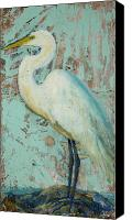 Loveland Canvas Prints - White Crane Canvas Print by Billie Colson