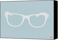 Reading Canvas Prints - White Glasses Canvas Print by Irina  March