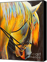 Parade Painting Canvas Prints - White Horse Canvas Print by Robert Hooper