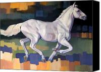 Horse Canvas Prints - White Horse2 Canvas Print by Farhan Abouassali