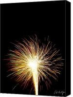 4th July Digital Art Canvas Prints - White Hot Canvas Print by Phill  Doherty