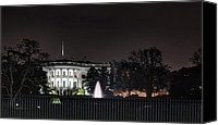 Evergreen Canvas Prints - White House at Christmas Canvas Print by Metro DC Photography