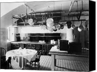 The White House Canvas Prints - White House Kitchen, 1901 Canvas Print by Granger