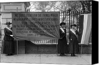 Demonstration Photo Canvas Prints - White House: Suffragettes Canvas Print by Granger