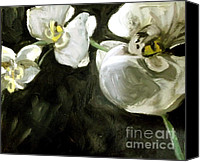Oil Special Promotions - White Magnolia Canvas Print by Samantha Black