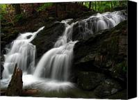 White Mountains Canvas Prints - White Mountains Waterfall Canvas Print by Juergen Roth