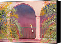 Tropical Bird Art Canvas Prints - White Parrot Canvas Print by Robert Hooper