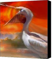 White Pelican Canvas Prints - White Pelican Canvas Print by Carol Cavalaris