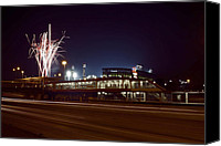 White Sox Canvas Prints - White Sox Homer Fireworks Canvas Print by Sven Brogren