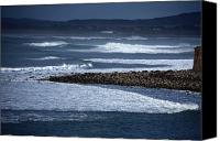 Moran Canvas Prints - White Surf Canvas Print by Aidan Moran