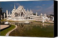 Buddhist Canvas Prints - White Temple Canvas Print by Adrian Evans