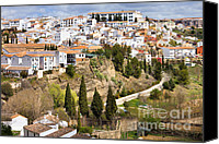 Ronda Canvas Prints - White Town of Ronda Canvas Print by Artur Bogacki