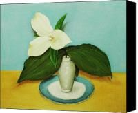 Forest Pastels Canvas Prints - White Trillium Canvas Print by Anastasiya Malakhova