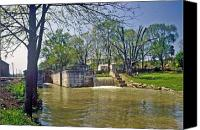 Metamora Canvas Prints - Whitewater Canal Metamora Indiana Canvas Print by Gary Wonning