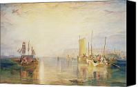 Watercolor On Paper Canvas Prints - Whiting Fishing off Margate Canvas Print by Joseph Mallord William Turner