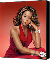 Singer Painting Canvas Prints - Whitney Houston Canvas Print by Reggie Duffie