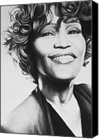 Bobby Canvas Prints - Whitney Houston Canvas Print by Steve Hunter