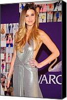 Half-length Canvas Prints - Whitney Port Wearing David Meister Canvas Print by Everett