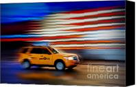 The City That Never Sleeps Canvas Prints - Whizzing Along Canvas Print by Susan Candelario