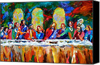 Last Supper Canvas Prints - Who Among Us Canvas Print by Debra Hurd