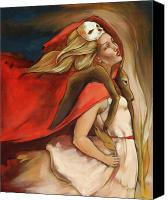 Blonde Canvas Prints - Who Carries Who Canvas Print by Jacque Hudson-Roate