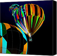 Hot Air Balloon Canvas Prints - Who has the the Right of Way Canvas Print by David Patterson