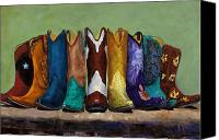 Cowboy Art Painting Canvas Prints - Why Real Men Want to be Cowboys Canvas Print by Frances Marino