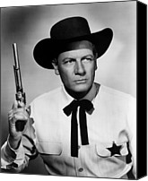 1950s Movies Canvas Prints - Wichita, Joel Mccrea, 1955 Canvas Print by Everett