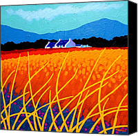 Violet Prints Canvas Prints - Wicklow Hills Canvas Print by John  Nolan