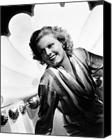 Harlow Canvas Prints - Wife Vs. Secretary, Jean Harlow, 1936 Canvas Print by Everett