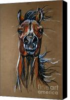 Wild Horse Pastels Canvas Prints - Wild At Heart Canvas Print by Angel  Tarantella