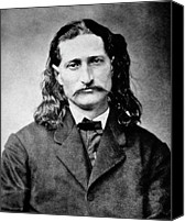 Old West Canvas Prints - Wild Bill Hickok - American Gunfighter Legend Canvas Print by Daniel Hagerman