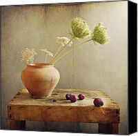Israel Canvas Prints - Wild Flowers With Cherries Canvas Print by Copyright Anna Nemoy(Xaomena)