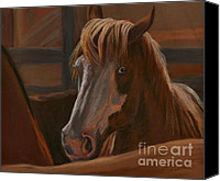 Wild Horse Pastels Canvas Prints - Wild Hearts Will NOT Be Broken Canvas Print by Sheri Gordon